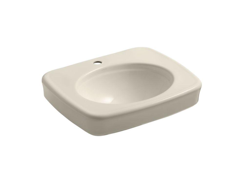 KOHLER Bancroft(R) pedestal bathroom sink basin with single faucet hole