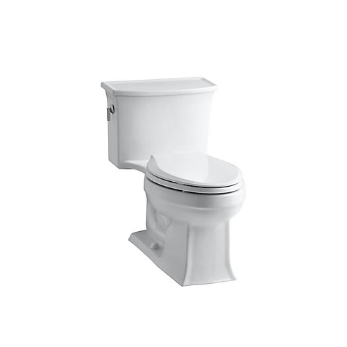 Archer 1-piece 4.8 LPF Single Flush Elongated Toilet in White