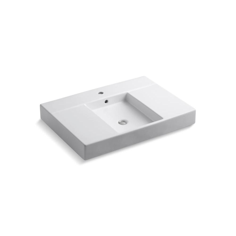KOHLER Traverse 60-inch L x 32-inch W Top and Bathroom Sink Basin with Single Hole Installation