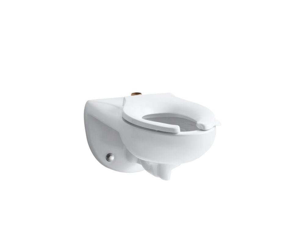 KOHLER Kingston 1.28/1.6 GPF Single Flush Seatless Toilet Bowl Only with Top Spud