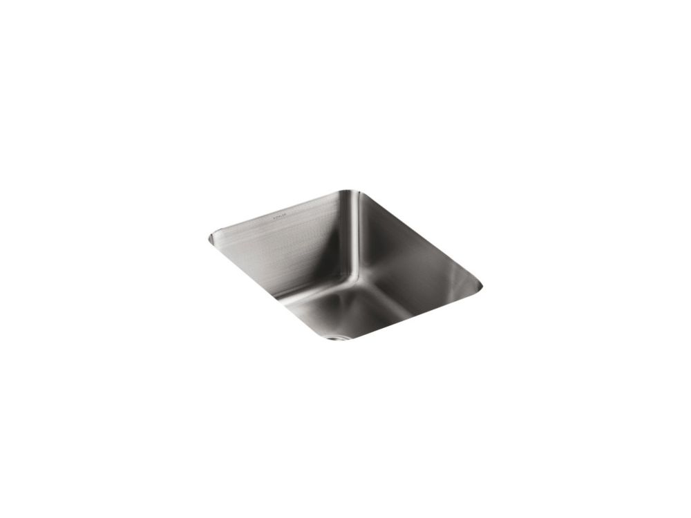 KOHLER Undertone(R) Squared Single-Basin Undercounter Kitchen Sink, 9-1/2 Inch Deep