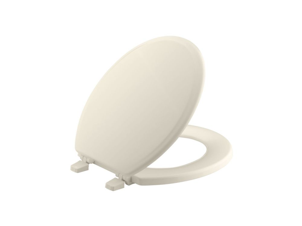 Ridgewood Round Closed Front Toilet Seat in Almond