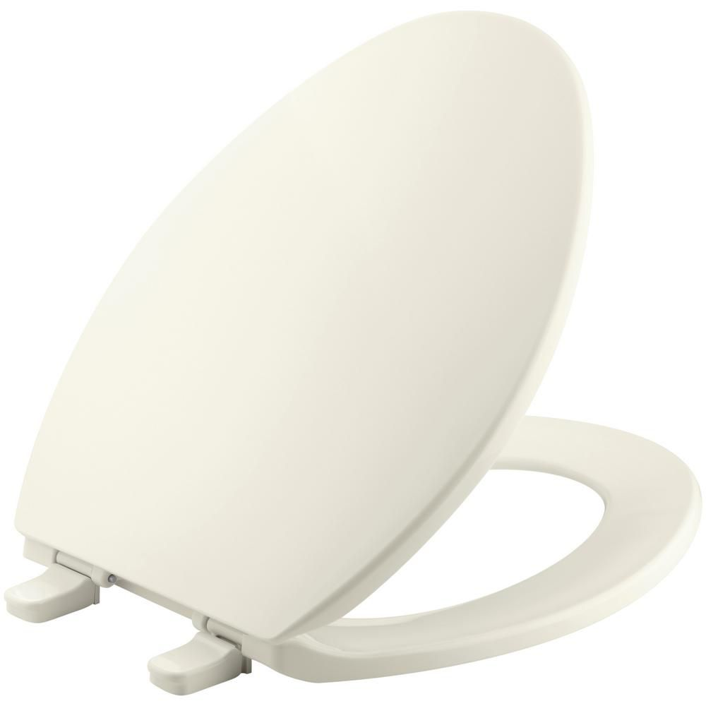 KOHLER Brevia Elongated Closed Front Toilet Seat in Biscuit
