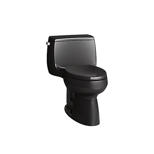 Gabrielle Comfort Height 4.8 LPF 1-Piece Single-Flush Elongated Bowl Toilet in Black