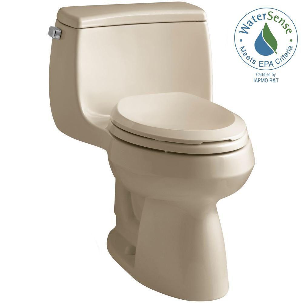 KOHLER Gabrielle Comfort Height 4.8 LPF 1-Piece Single-Flush Elongated Bowl Toilet in Sand
