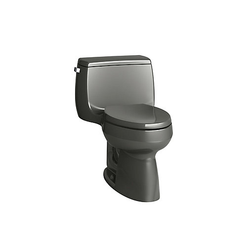 Gabrielle Comfort Height 1-Piece 1.28 GPF Single Flush Elongated Bowl Toilet in Thunder Grey