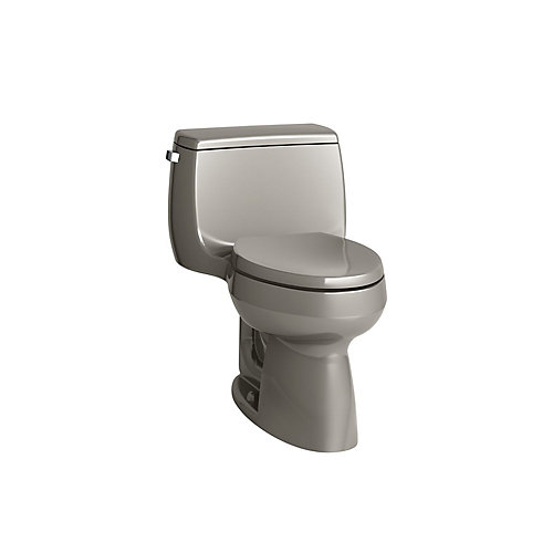 Gabrielle Comfort Height 1-Piece 1.28 GPF Single Flush Elongated Toilet in Cashmere