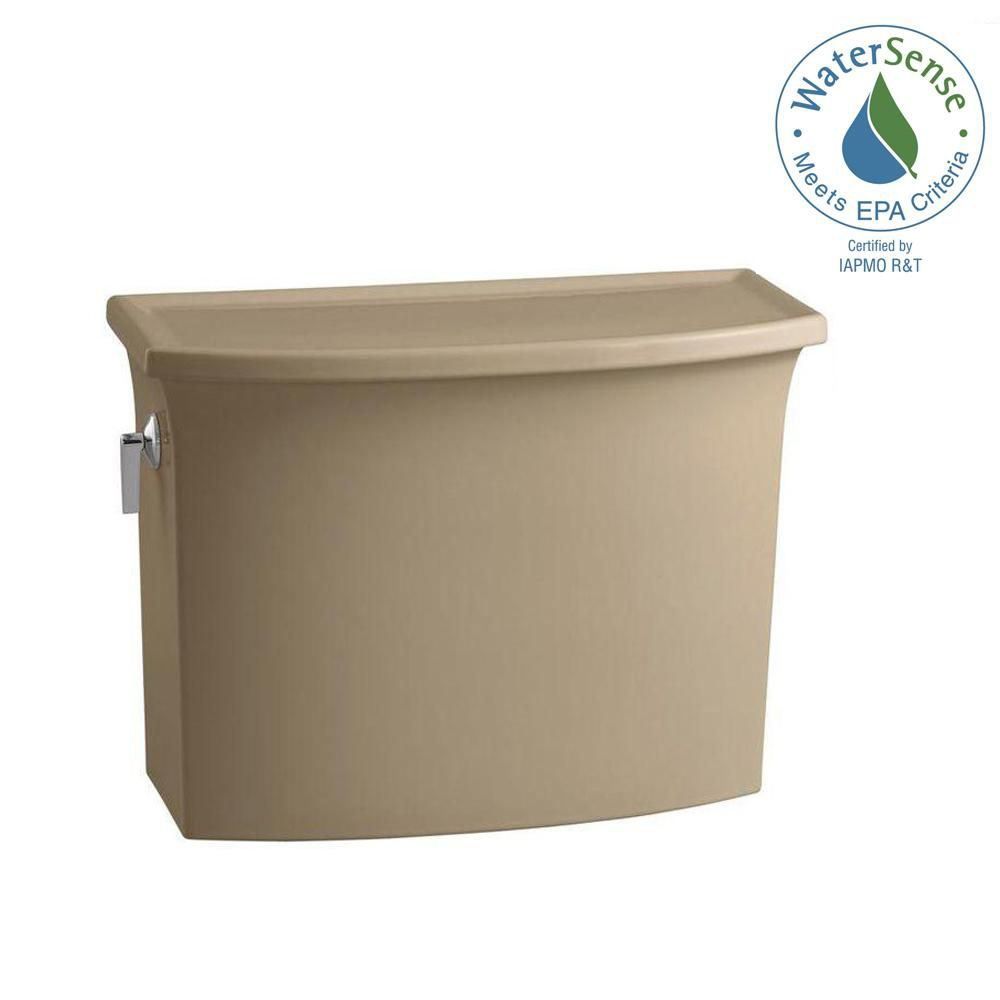 KOHLER Archer 1.28 GPF Single Flush Toilet Tank Only in Mexican Sand