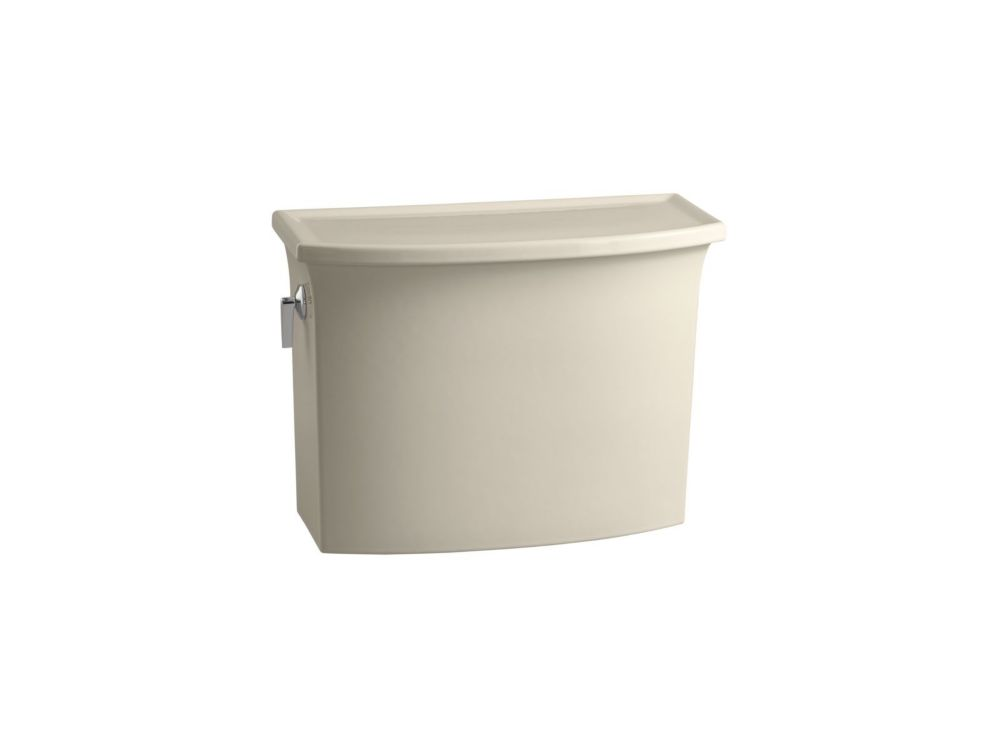 KOHLER Archer 1.28 GPF Single Flush Toilet Tank Only in Almond