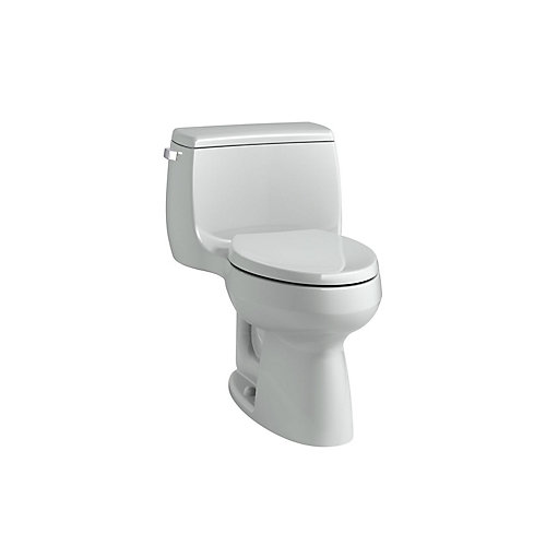 Gabrielle Comfort Height 1-Piece 1.28 GPF Single Flush Elongated Bowl Toilet in Ice Grey