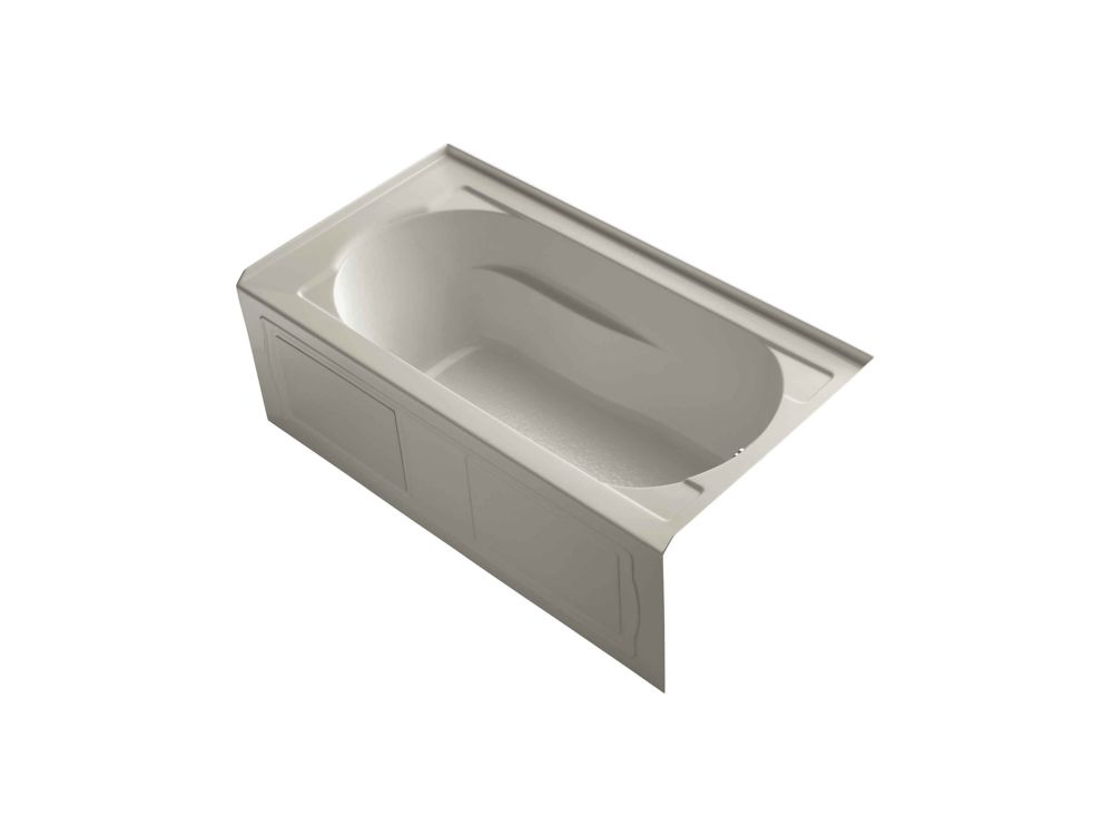 KOHLER Devonshire Bathtub with Integral Apron, Tile Flange and Right-Hand Drain
