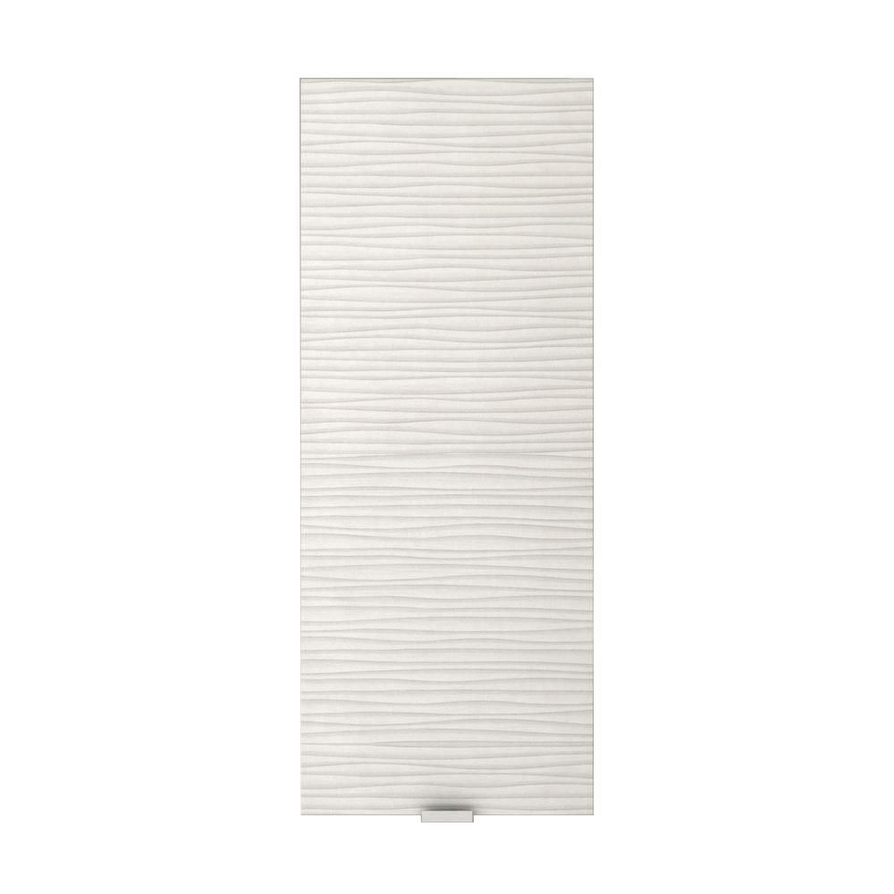 Textures Collection 11 1/2-inch x 5-inch x 30-inch Contour Medicine Cabinet in White