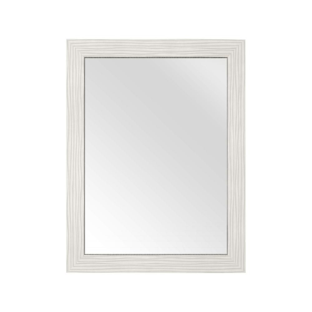Cutler kitchen bath miroir contour white de textures for Miroir texture
