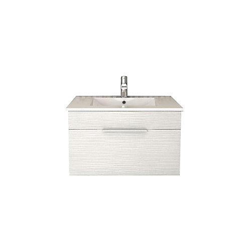 Textures Collection 28.5625-inch W Vanity in Off-White