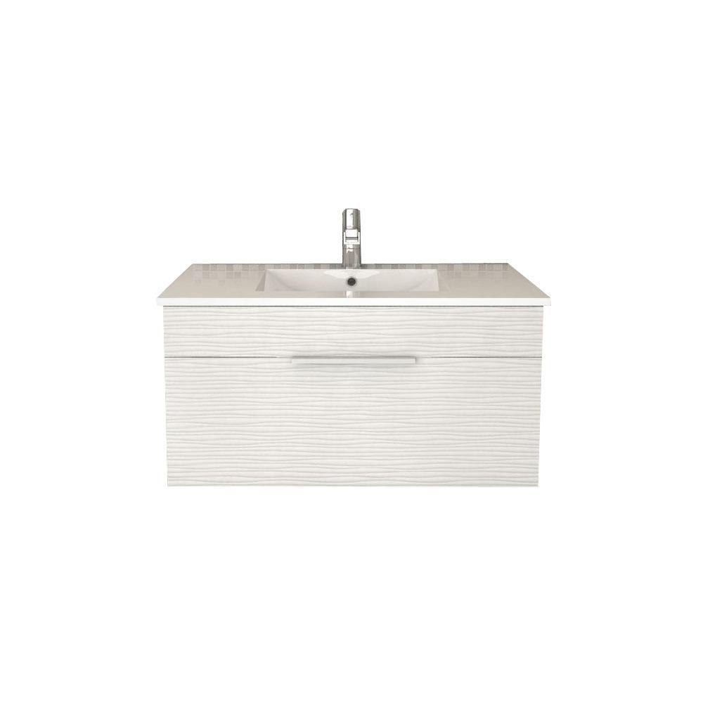 Cutler Kitchen & Bath Textures Collection 34.44-inch W Vanity in White