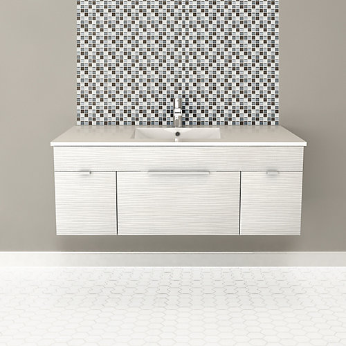 Textures Collection 46.25-inch W Vanity in White