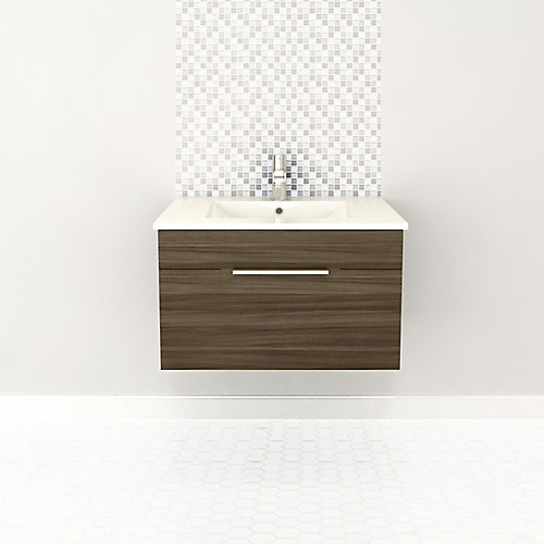 Textures Collection 28.5625-inch W Vanity in Brown