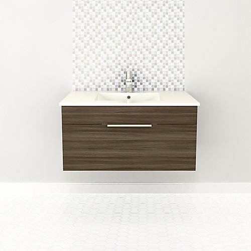 Textures Collection 34.44-inch W Vanity in Brown