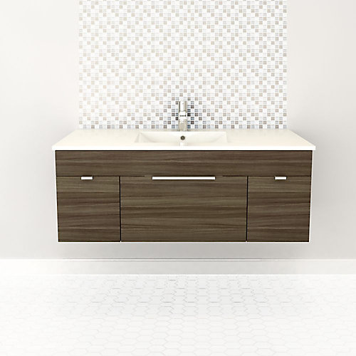 Textures Collection 48-inch W Vanity in Driftwood