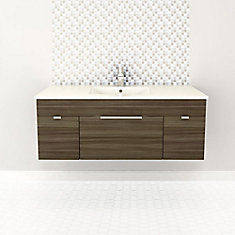 Textures Collection 46.25-inch W Vanity in Brown