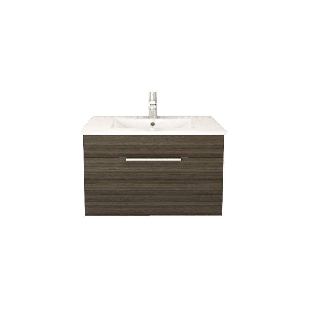 Textures Collection 30-inch W Wall Hung Vanity in Spring Blossom Finish