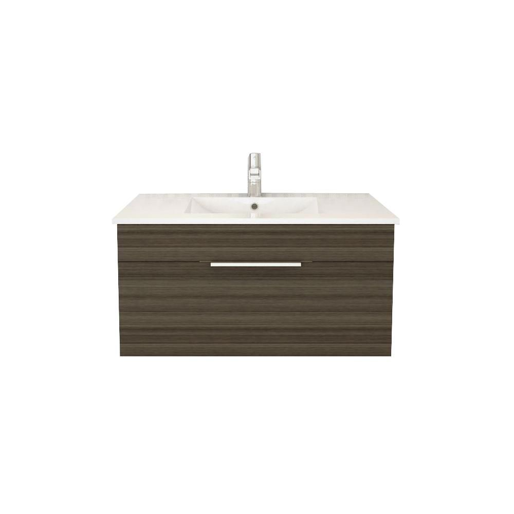 Textures Collection 36-inch W Wall Hung Vanity in Spring Blossom Finish