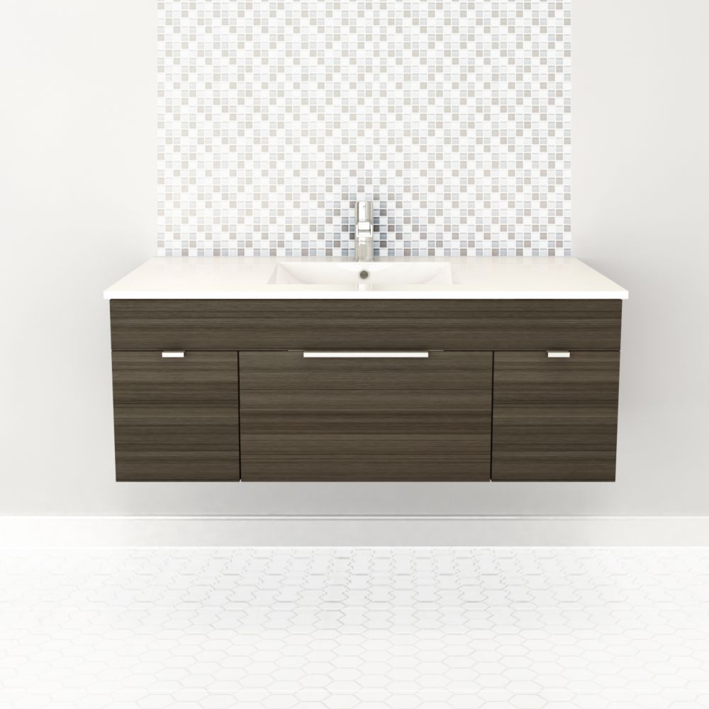 Textures Collection 48-inch W Wall Hung Vanity in Spring Blossom Finish