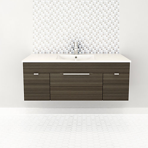 Textures Collection 48-inch W Vanity in Spring Blossom