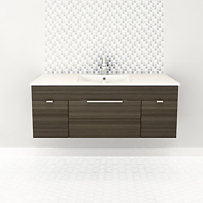 Textures Collection 48 Inch W Wall Hung Vanity In Spring Blossom Finish