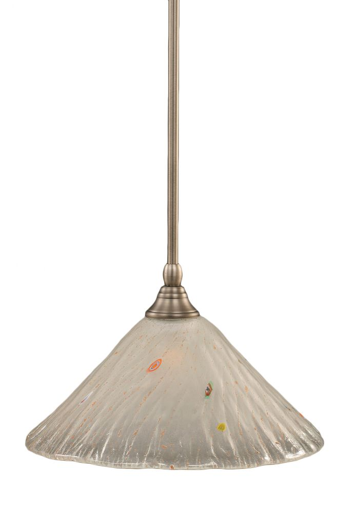 Concord 1-Light Ceiling Brushed Nickel Pendant with a Frosted Crystal Glass