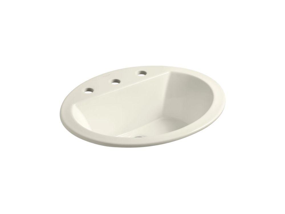 Kohler Bryant R Oval Drop In Bathroom Sink With 8 Inch