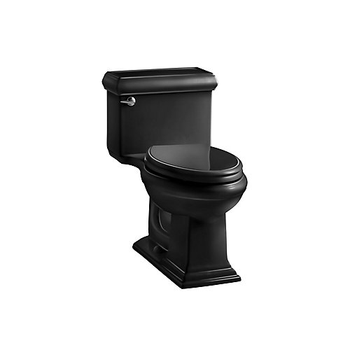 Memoirs 1-piece 1.28 GPF Single Flush Elongated Bowl Toilet in Black