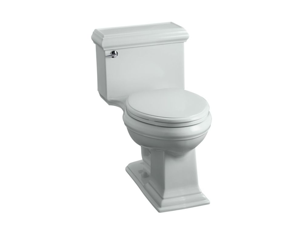 KOHLER Memoirs 1-Piece 1.28 GPF Single Flush Elongated Bowl Toilet in Ice Grey