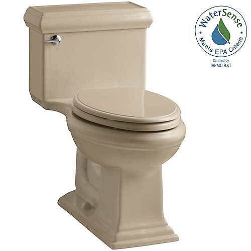 Memoirs 1-piece 1.28 GPF Single Flush Elongated Bowl Toilet in Mexican Sand