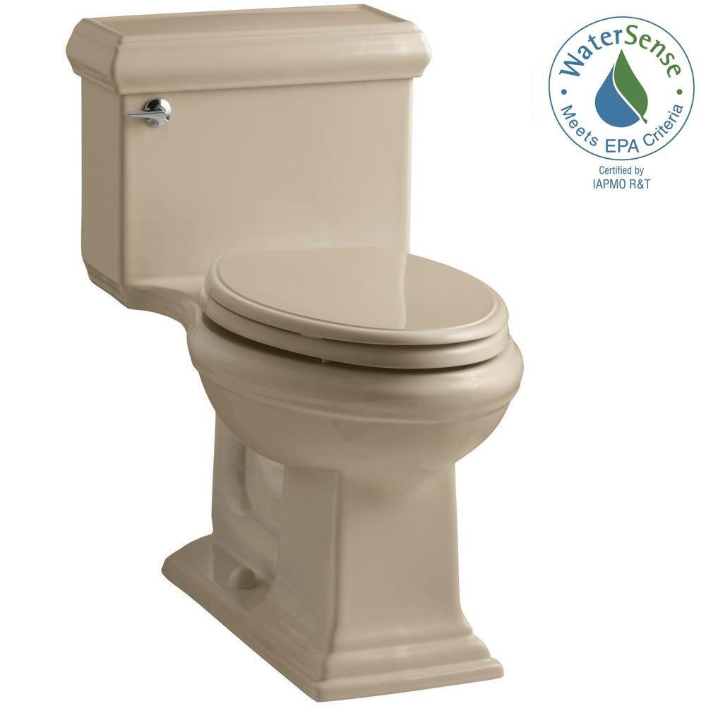 KOHLER Memoirs 1-piece 1.28 GPF Single Flush Elongated Bowl Toilet in Mexican Sand