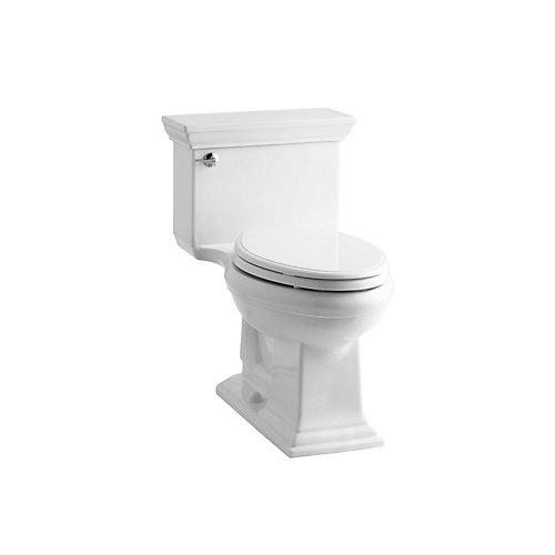 Memoirs Stately 1-Piece 4.8 LPF Single Flush Elongated Toilet with AquaPiston Flush in White