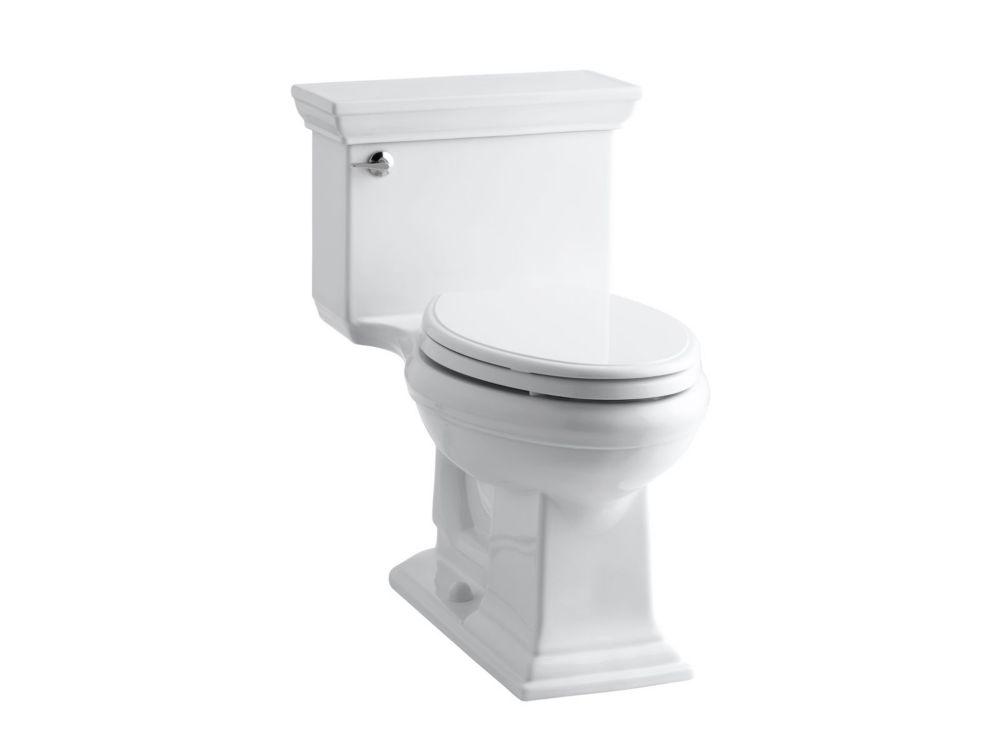 KOHLER Memoirs Stately 1-Piece 4.8 LPF Single Flush Elongated Toilet with AquaPiston Flush in White