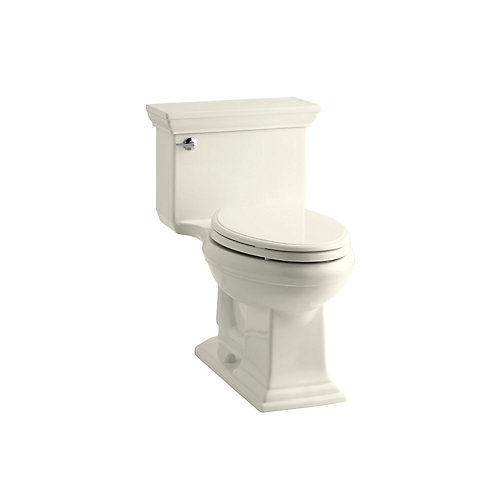Memoirs 1-piece 1.28 GPF Single Flush Elongated Bowl Toilet in Biscuit