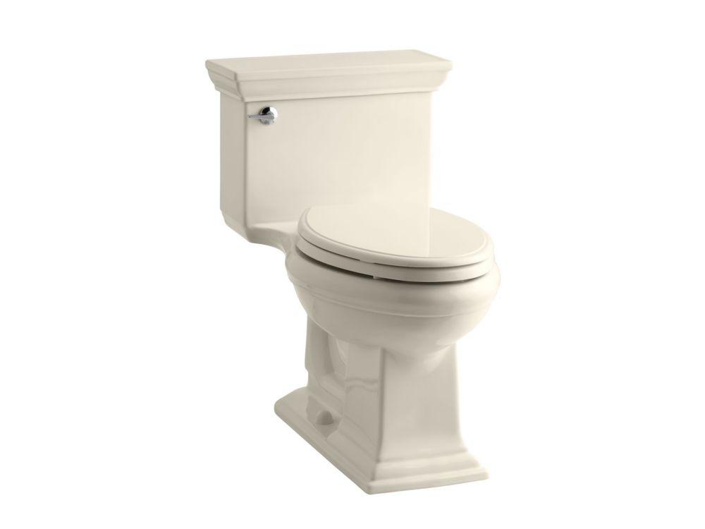 KOHLER Memoris Stately 1-Piece 4.8 LPF Single Flush Elongated Toilet with AquaPiston Flush in Almond