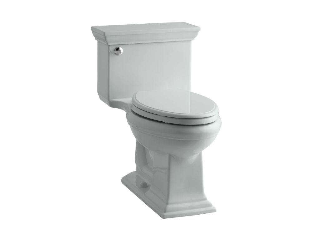 KOHLER Memoirs Stately 1-Piece 4.8 LPF Single Flush Elongated Toilet with AquaPiston Flush in Ice Grey