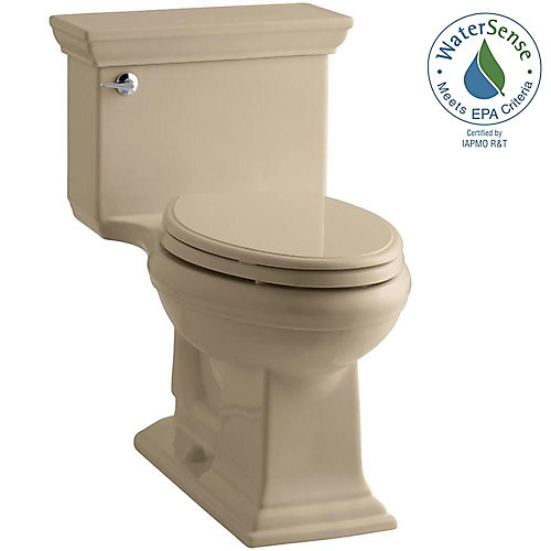 Memoirs 4.8 LPF 1-Piece Single-Flush Elongated Bowl Toilet in Sand