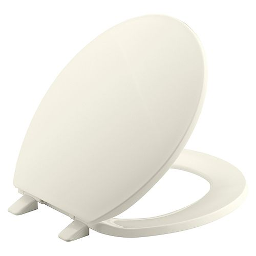 KOHLER Brevia Round Closed Toilet Front Toilet Seat with Q2 Advantage in Biscuit