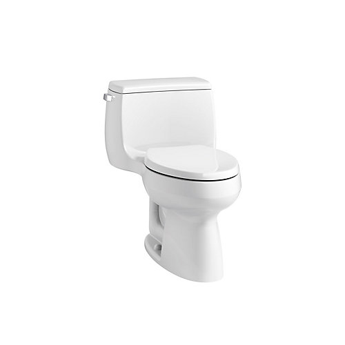 Gabrielle Comfort Height 1-piece 4.8 LPF Single Flush Compact Elongated Toilet in White
