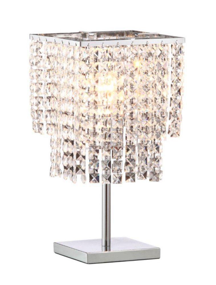 Falling Stars Table & Desk Lamp Chrome