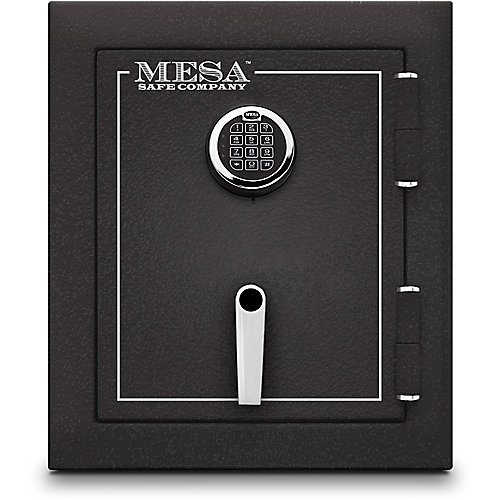 1.7 cu. ft. All Steel Burglary and Fire Safe with Electronic Lock, Hammered Grey