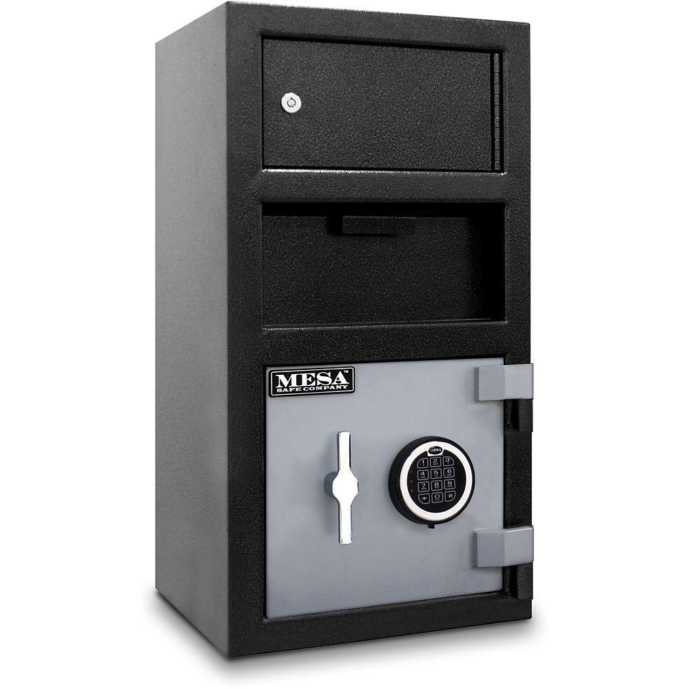 All Steel MFL2014E-OLK 1.5 cu. ft. Capacity Depository Safe with an Exterior Locker