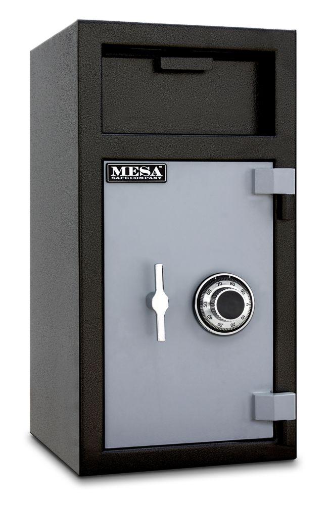 Coffre-fort dépôt Mesa MFL2714C tout acier. Capacité 39,6 l (1,4 pi3)