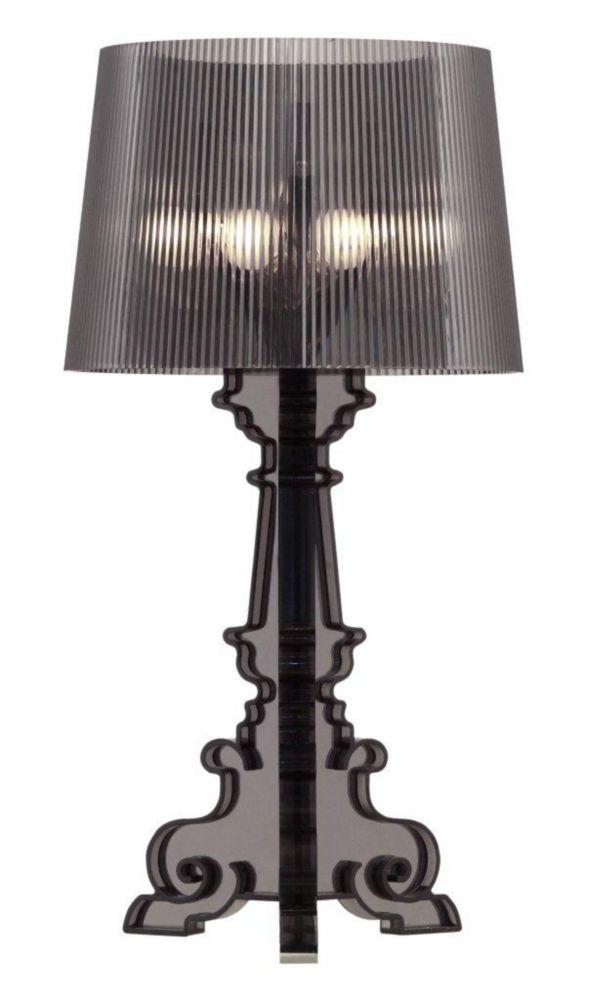 Salon L Table & Desk Lamp Translucent Black