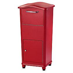 Architectural Mailboxes Elephantrunk Parcel Drop Box Red