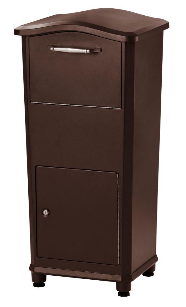 boîte aux lettres pour colis elephantrunk de ton bronze huilé